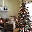 Christmasy living room