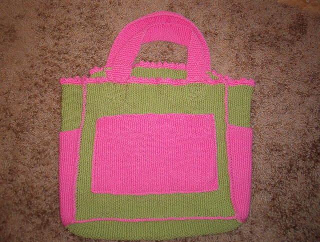 Kristen's diaper bag--pre-felting
