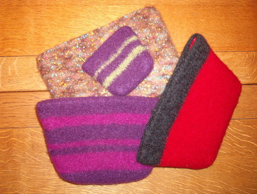 Felted bags, different view