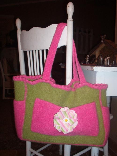 Kristen's felted diaper bag