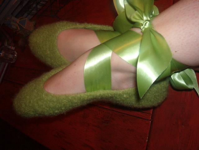 Felt ballet slippers