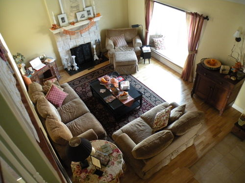 Living room from the loft