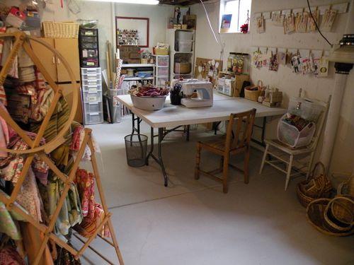 Basement craft space